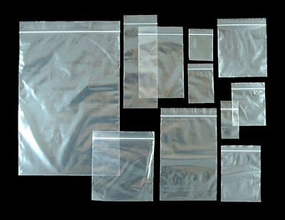 100 Small Clear Plastic Poly Grip Self Seal Resealable Zip Lock Bags Jewellery