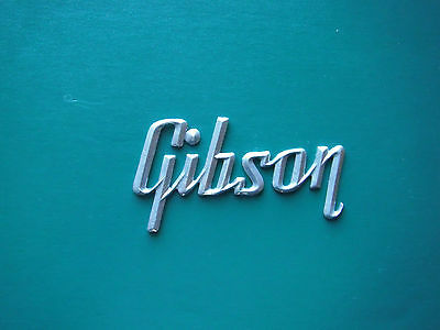 Gibson  Silver Logo for Amp ( large version)