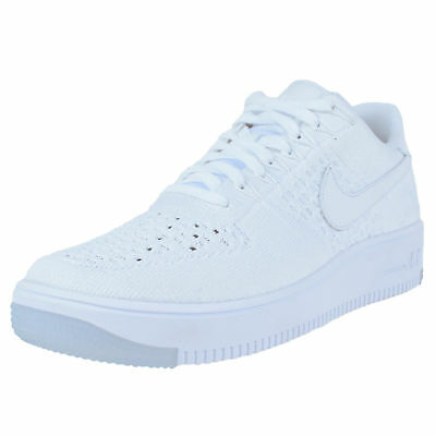ec37a134b70e45 Nike Air Force 1 Ultra Flyknit Low Basketball Shoes White White Ice 817419  100