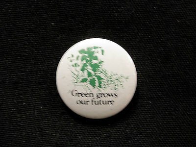 "Friends Of The Earth Environmental Button Pin Badge ""green Grows........"""