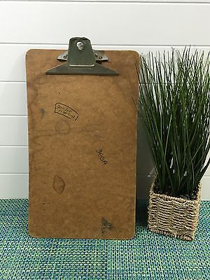 """VINTAGE LEGAL SIZE WOOD Clipboard by QUILL PRODUCTS  LOS ANGELES 9"""" X 15 1/2"""""""