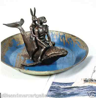 GILLIE AND MARC. Direct from artists. Authentic bronze sculpture 'whale riders'