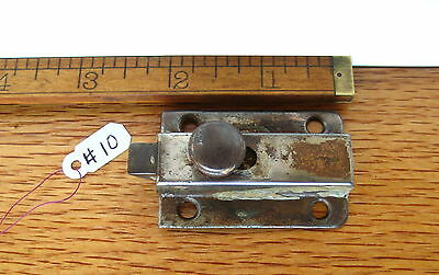 Old Antique Vintage Cuboard Cabinet Latch Steel Nickel Finish Lock Part # 10