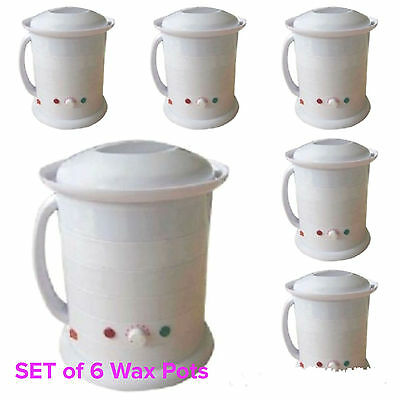 6 X 1 Litre Wax Pot Heater Warmer Salon Spa Wax Hair Removal Hot wax Strip Wax