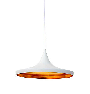 Reproduction of Tom Dixon Style Beat Shade Wide Pendant Lamp White Design Light
