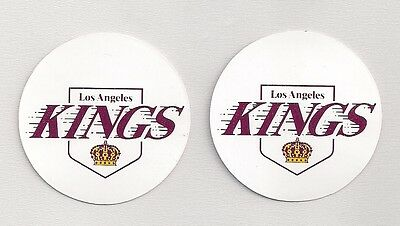 Early 1980s Los Angeles Kings NHL Team Logo Decal Stickers Lot of (2)
