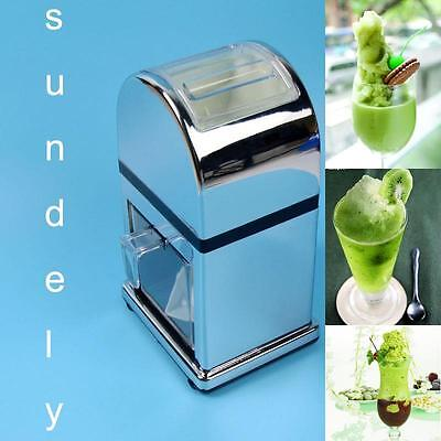 Ice Candy Crusher Shaver Snow Cone Maker Manual Machine -uk