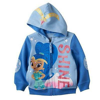 Shimmer And Shine Blue Sweater Hoodie Size 2T 3T 4T New!