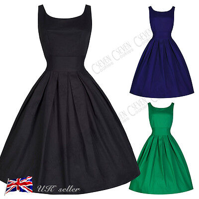 Women's Vintage Style 1950's Retro Rockabilly Cocktail Evening Party Swing Dress