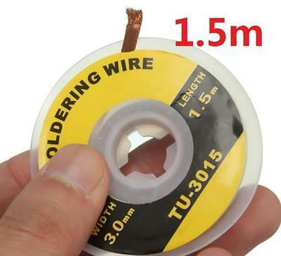 1PC 3.5mm 1.5M Desoldering Braid Solder Remover Removal Wick Wire Repair Tool VN