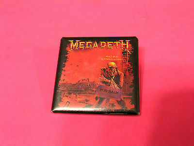 Used Official 2004 Megadeth Button Badge Pin