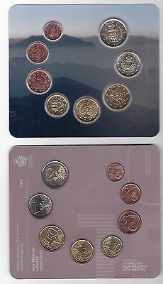San Marino - 8 Dif Unc Coins Set: 1 Cent - 2 Euro 2015 Year Mint Pack