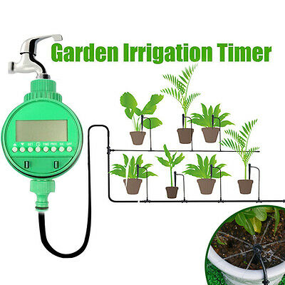 Automatic Digital Electronic LCD Water Timer Home Garden Irrigation Controller