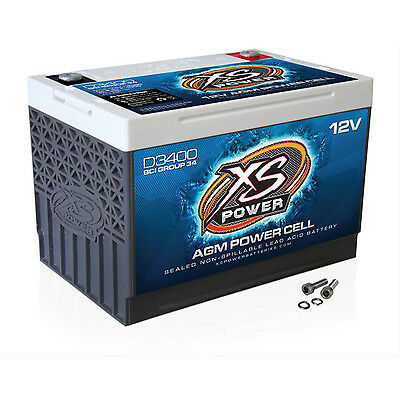 XS Power D3400 12V BCI Group 34 AGM Battery, Max Amps 3,300A, CA: 1000 Ah:  65,