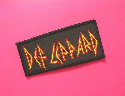 Def Leppard Small Woven Vintage Patch  Sew On  Uk Made