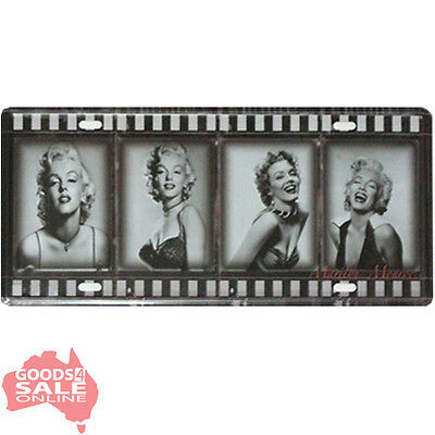 Marilyn Monroe Film Movie Novelty Number Plate Style Tin Metal Sign 30x15cm