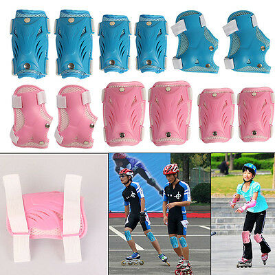 Elbow Knee Pads Wrist Guard Protective Gear Set Child Skateboard Skating Cycling