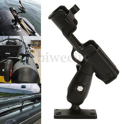Kayak Marine Boat Fishing Pole Rod Holder Rest 360° Swivel Side Mount Adjustable