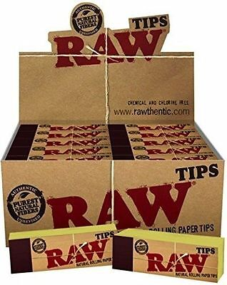 5 10 25 50 Raw Roach Filter Tips Rolling Paper  Chlorine free Unrefined