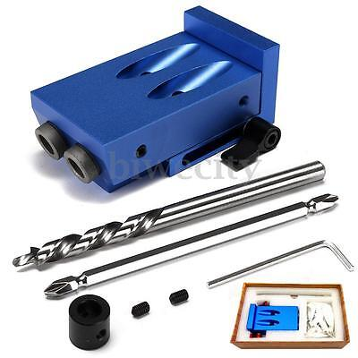Mini Kreg Style Pocket Hole Jig Kit With Step Drilling Bit Woodwork Joint Tool