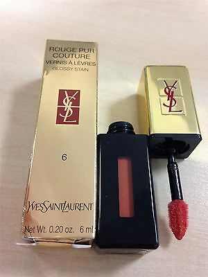 YSL Rouge Pur Couture Glossy Stain 6ml Camel Croiseiere 06 Makeup Damaged Box