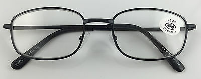 L452 Superb Quality Metal Frame Reading Glasses/Spring Hinges/Classic Style