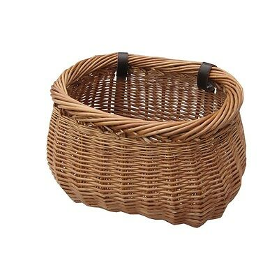 Heritage Wicker Bicycle Basket With Adjustable Straps Cycle Bike Shopping Willow