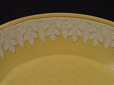 RARE EARLY 1800s TINY 5 INCH PLATE APPLIED DECORATION YELLOW WARE WEDGWOOD MINT