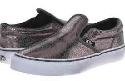 1f275c0b8747 VANS GIRLS METALLIC Silver Slip On Shoes/ Sizes: 10.5, 11, 11.5, 13 ...