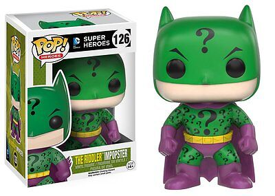 Pop Super Heroes The Riddler Imposter Vinyl Figure Funko New #126 Vaulted