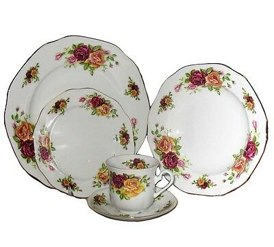 Czech Thun Porcelain Dinnerware Set for 4 or 8 persons Roses pattern