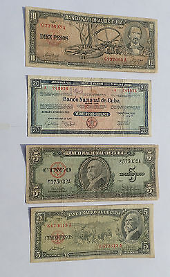 BILLET - lot 4 billets CARAIBES (4210J)