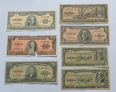 BILLET - lot 7 billets CARAIBES (4212J)