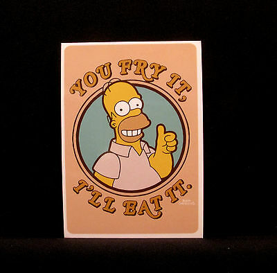 "The Simpsons New  Postcard  Uk Import  ""homer"""