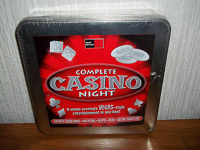 Complete Casino Night - Games, Recipies, Invitations, Costume Ideas - New Sealed
