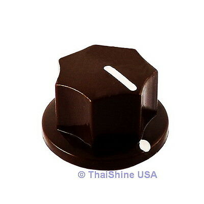 3 x MXR Style Fluted Brown Knob - USA Seller - Free Shipping