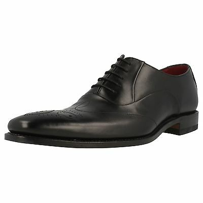 Mens Loake Gunny Black Leather Smart Lace Up Shoes Fitting F
