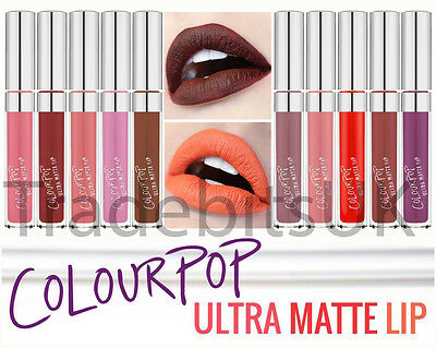 New ColourPop Ultra Matte Lip Liquid Lipstick 12 Shades Colour Pop UK SELLER