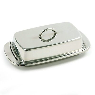 Norpro Double Covered Stainless Steel Butter Dish