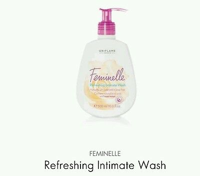 Oriflame Feminelle Refreshing Intimate Wash Rose Water (Soap Free), 300ml New