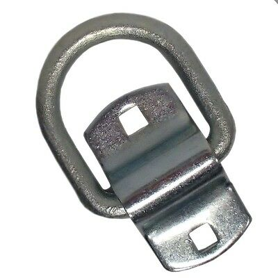 """1/2"""" Bolt on D-Ring Tie-Down Rope Chain 12k Breaking Strength 4k Work Load Limit"""