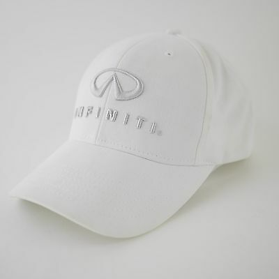 INFNITI Luxury Car Automobiles SOLID WHITE Baseball Embroidered Hat Cap - one sz