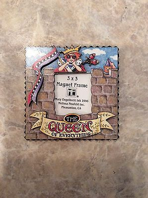 """Mary Engelbreit 3"""" Square The Queen.... Pressboard Magnetic Picture Frame"""