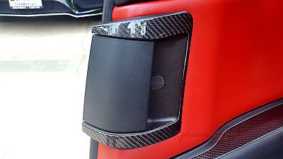 Glossy Real Carbon Fiber Rear Door Handle Trim For Mazda Rx8 Se3P 13B Mazdaspeed