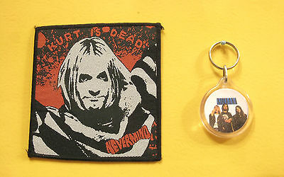 Nirvana Woven Vintage Patch Sew On +++ Keychain Uk Imports