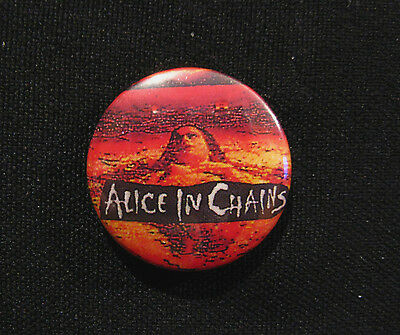 Alice In Chains  Badge Button Pin Uk Import Vintage