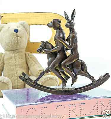 GILLIE AND MARC. Direct from artists. Authentic bronze sculpture 'rocking horse'