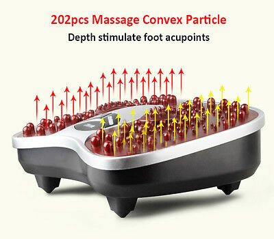 Foot Massager Blood Booster Circulation Infrared Warm Vibrating foot Spa US Plug