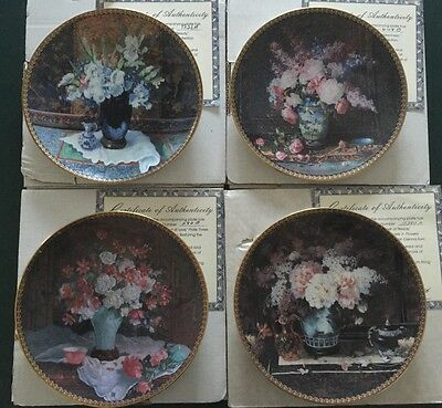 W. S. George Sonnets In Flowers Limited Edition Decorative Plate Set Of 4