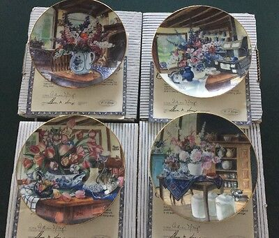 W. J. George Country Bouquets Limited Edition Decorative Plate Set Of 4